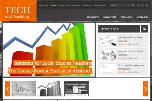 Screenshot of the website Tech and Teaching.