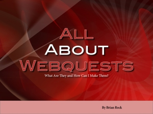 All About Webquests Cover